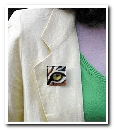 Eye Help Animals Bengal Tiger Wildlife Collectible Pin #1 worn by the artist DJ Geribo