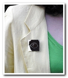 Eye Help Animals Giant Panda Wildlife Collectible Pin #18 worn by the artist DJ Geribo