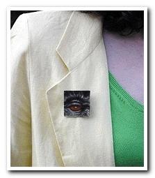 Eye Help Animals Mountain Gorilla Wildlife Collectible Pin #20 worn by the artist DJ Geribo