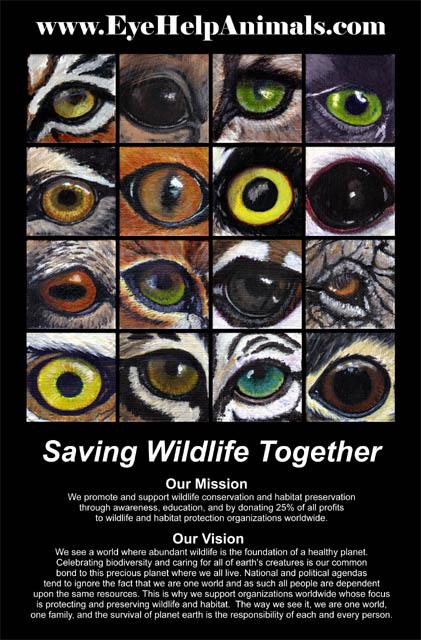 Eye Help Animals Saving Wildlife Together Poster