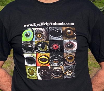 Exclusive EyeHelpAnimals.com 2nd Edition T-Shirt Design in Classic Black