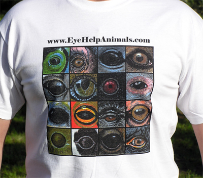 Exclusive EyeHelpAnimals.com 2nd Edition T-Shirt Design in Cool and Comfortable White