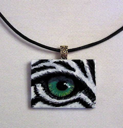 Eye Help Animals Black Onyx Wildlife Eye Pendant
