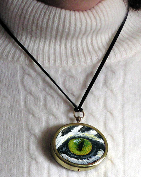 Eye Help Animals Wildlife Eye Pendant - Detailed Image #1