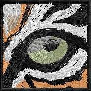 Eye Help Animals classic ballcap Bengal Tiger eye embroidery detail