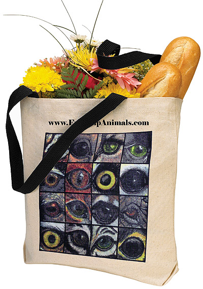 Eye Help Animals First Edition Wildlife Eyes Canvas Tote Bag - detailed imagee