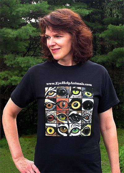 Exclusive EyeHelpAnimals.com T-Shirt Design in Classic Black
