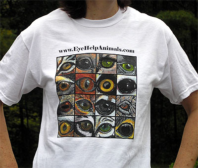 Exclusive EyeHelpAnimals.com T-Shirt Design in Cool and Comfortable White