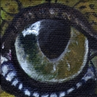 American Crocodile Eye Wildlife Collectible Pin
