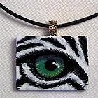 Eye Help Animals Black Onyx Wildlife Eye Pendant