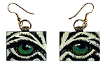 Eye Help Animals Wildlife Eye Earrings