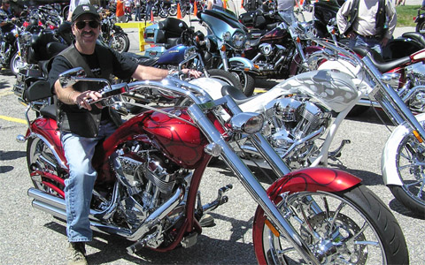 Eye Help Animals Cofounder Jim Fontaine at Laconia Bike Week in NH